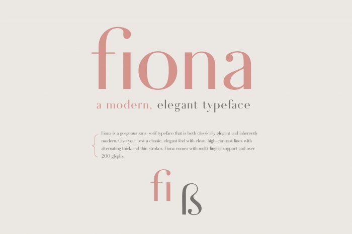Fiona Font Download - UI Freebies