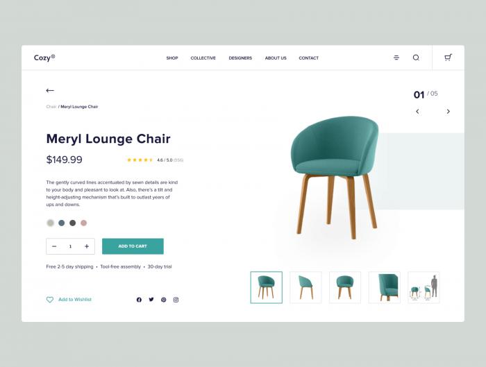 Furniture Ecommerce Website Template Free Download - UI Freebies
