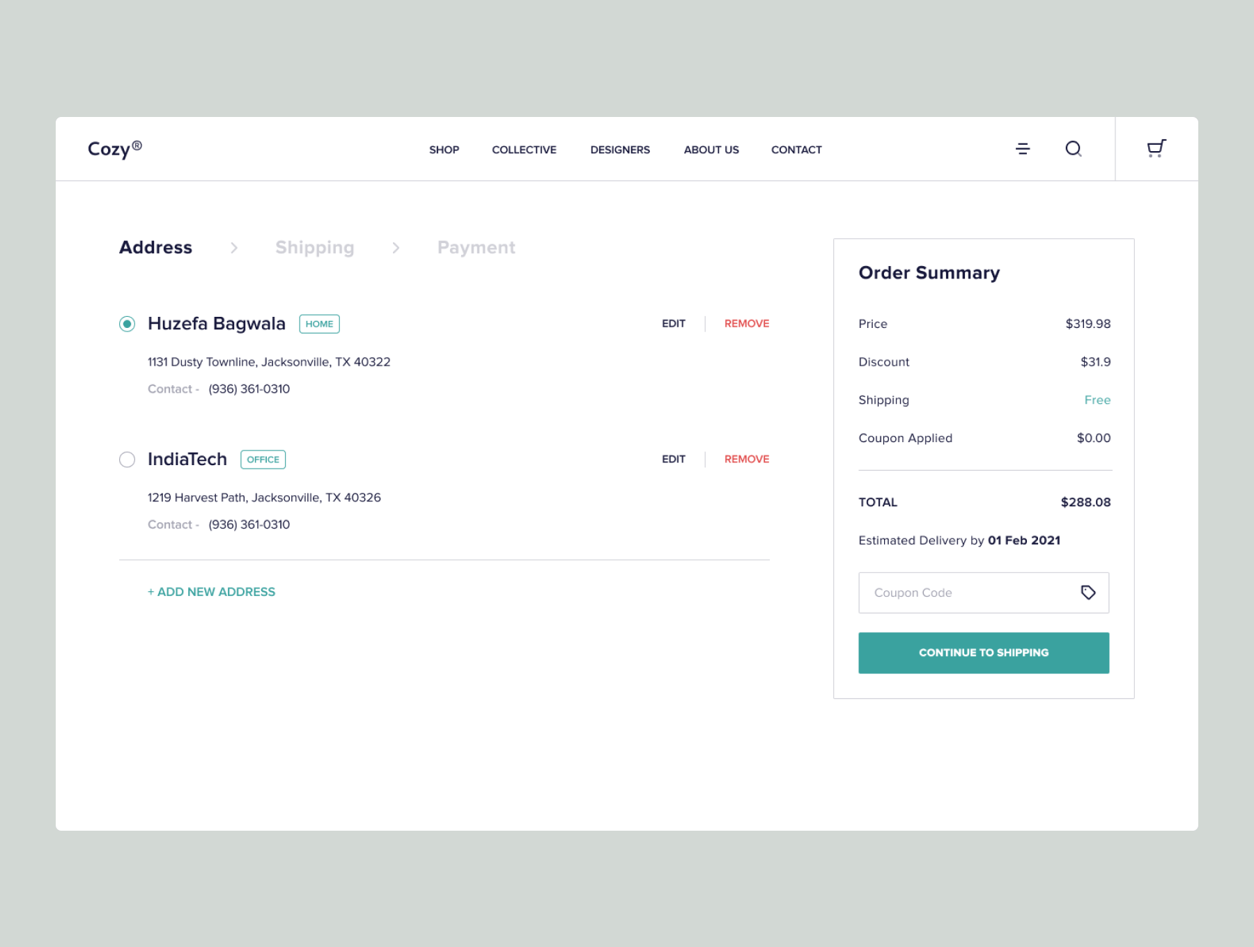 Modern Furniture Website Design Free - UI Freebies