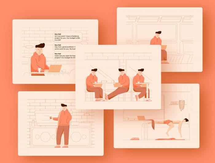 guy illustration free 1 - UI Freebies