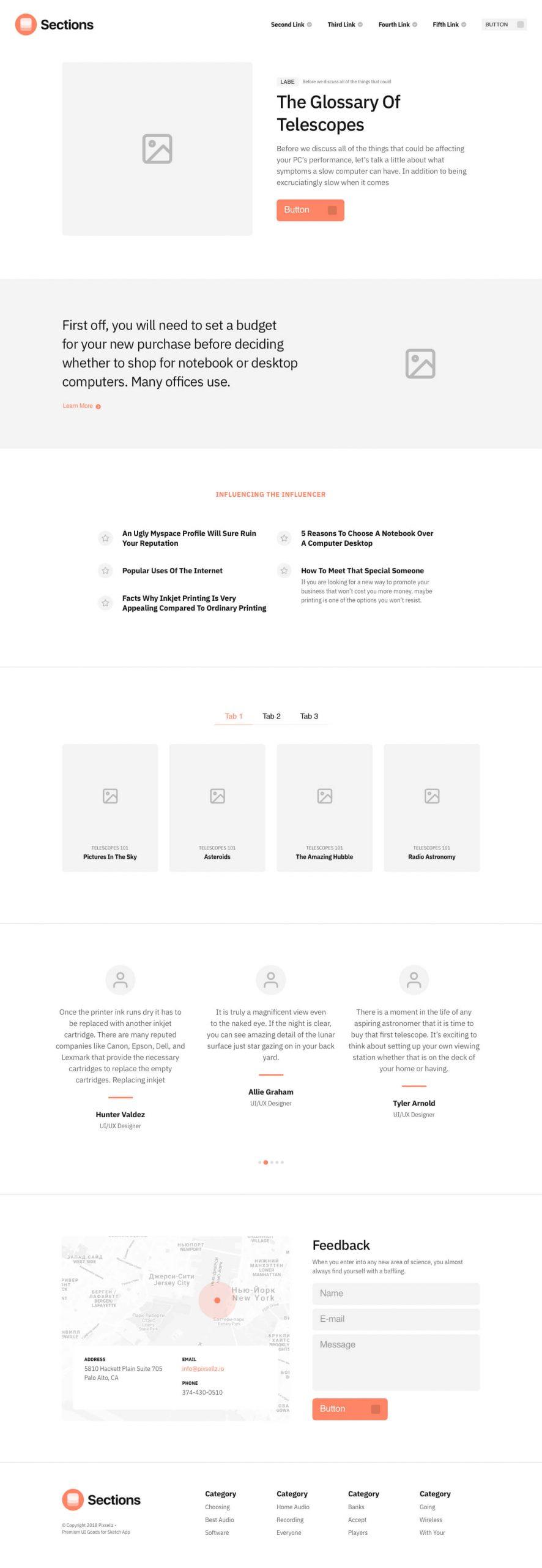 Landing Page Wireframe Kit Free - UI Freebies