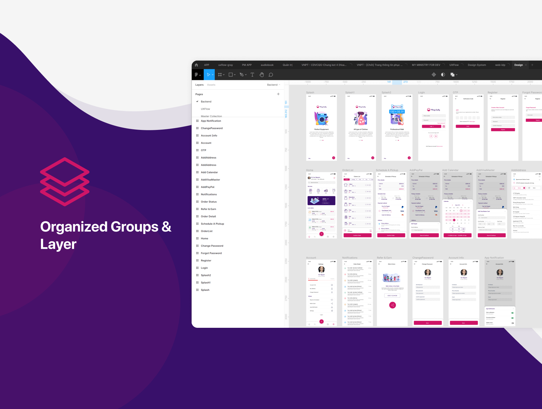 Laundry App UI Kit Free Download - UI Freebies