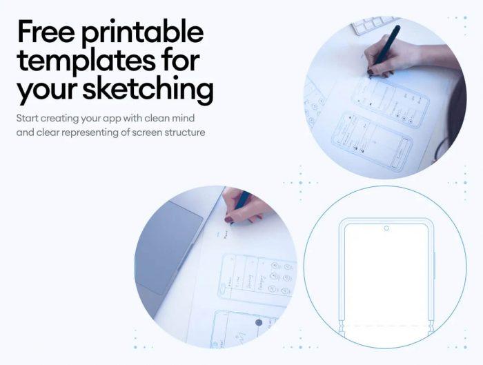 Printable Templates Free for Figma - UI Freebies