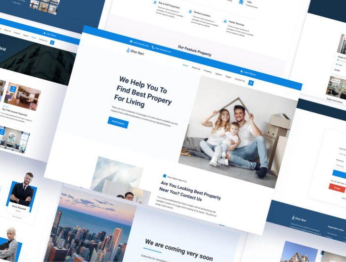 Real Estate Website Template Free - UI Freebies