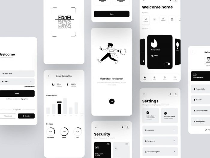smart home mobile app design 2 - UI Freebies