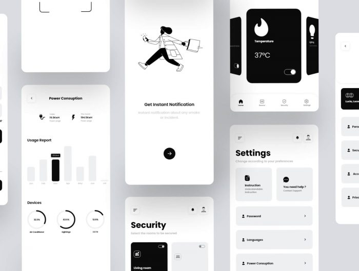 smart home mobile app design 3 - UI Freebies