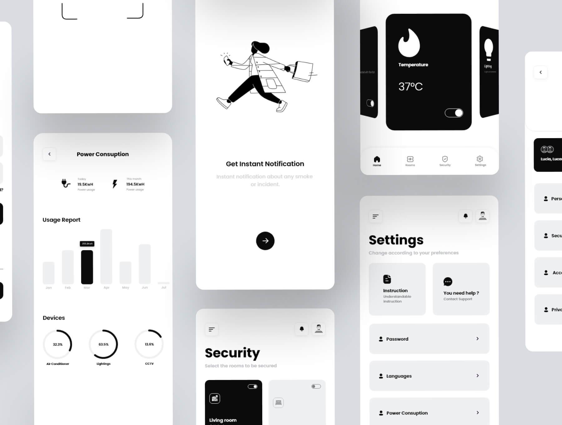 Smart Home UI Template Free - UI Freebies