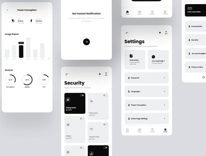 smart home mobile app design 4 - UI Freebies