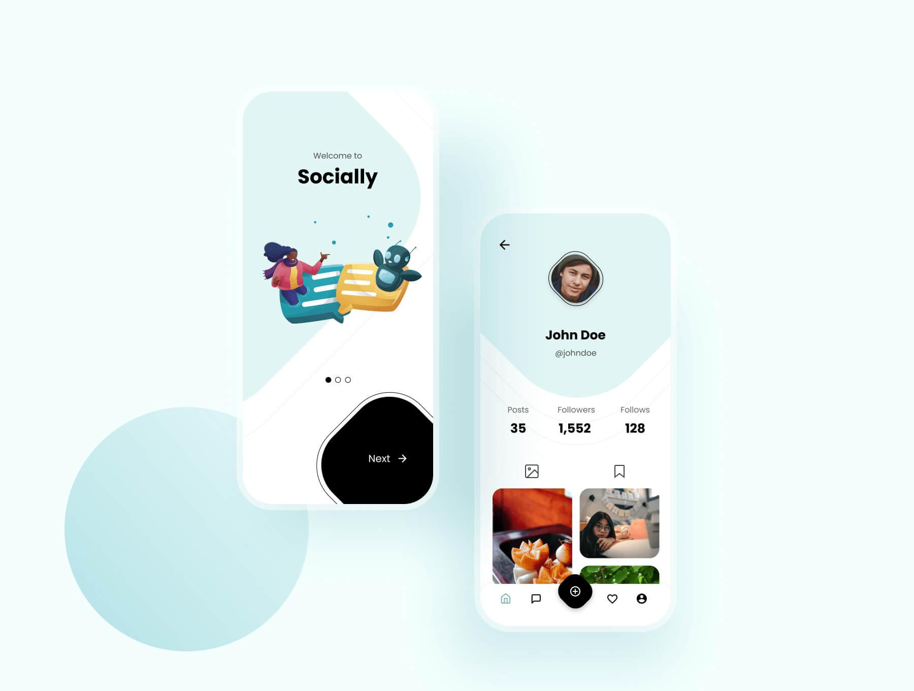 Social Media App Design Free - UI Freebies