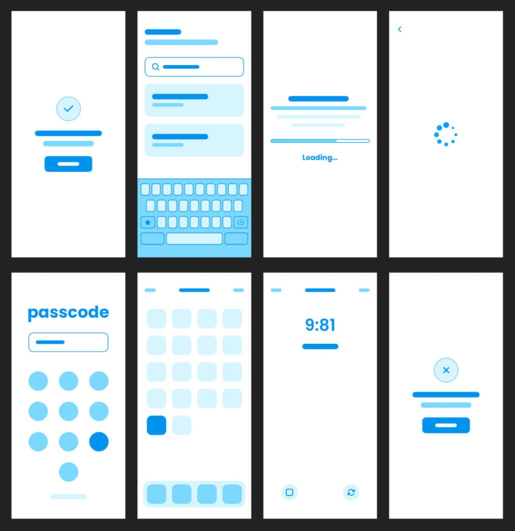 Mobile App Wireframe UI Kit Free - UI Freebies