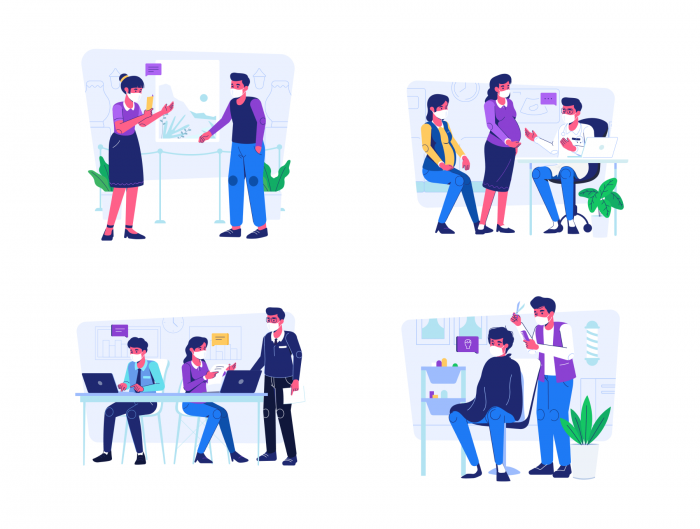 work from home illustration 2 - UI Freebies