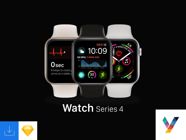 Apple Watch Mockup Sketch Free - UI Freebies