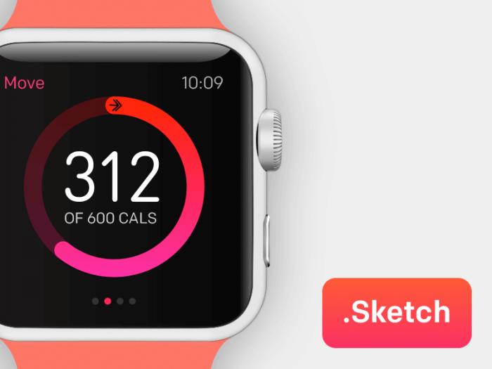 Apple Watch Template Sketch