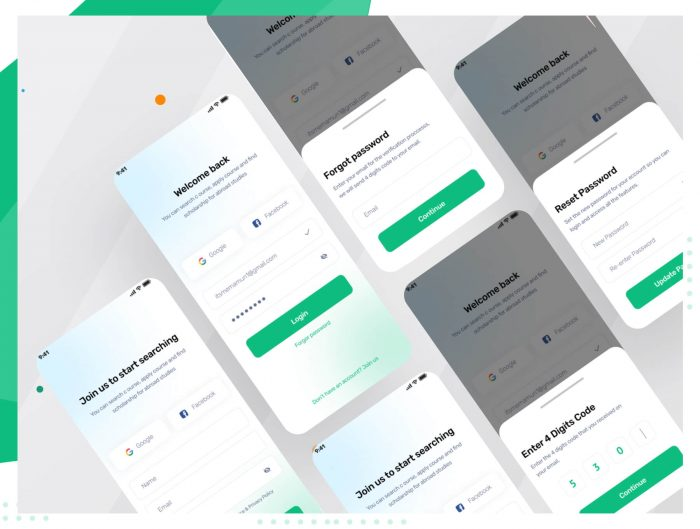 Doctor Appointment App Design Free - UI Freebies