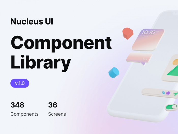 Nucleus UI Component Library Free