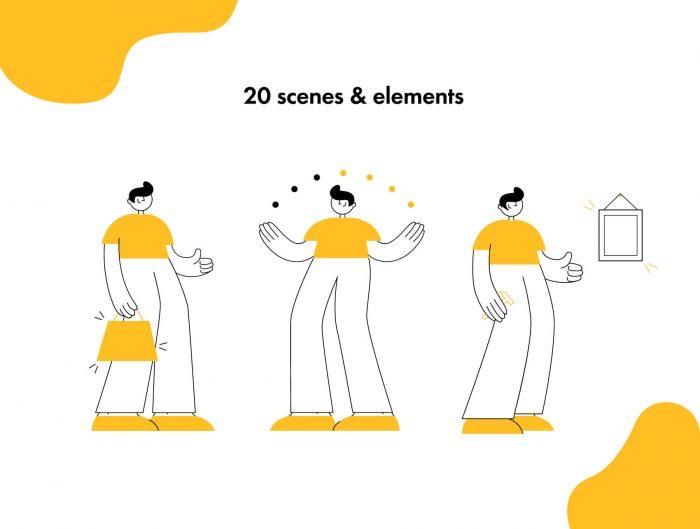Onboarding Illustrations Free - UI Freebies