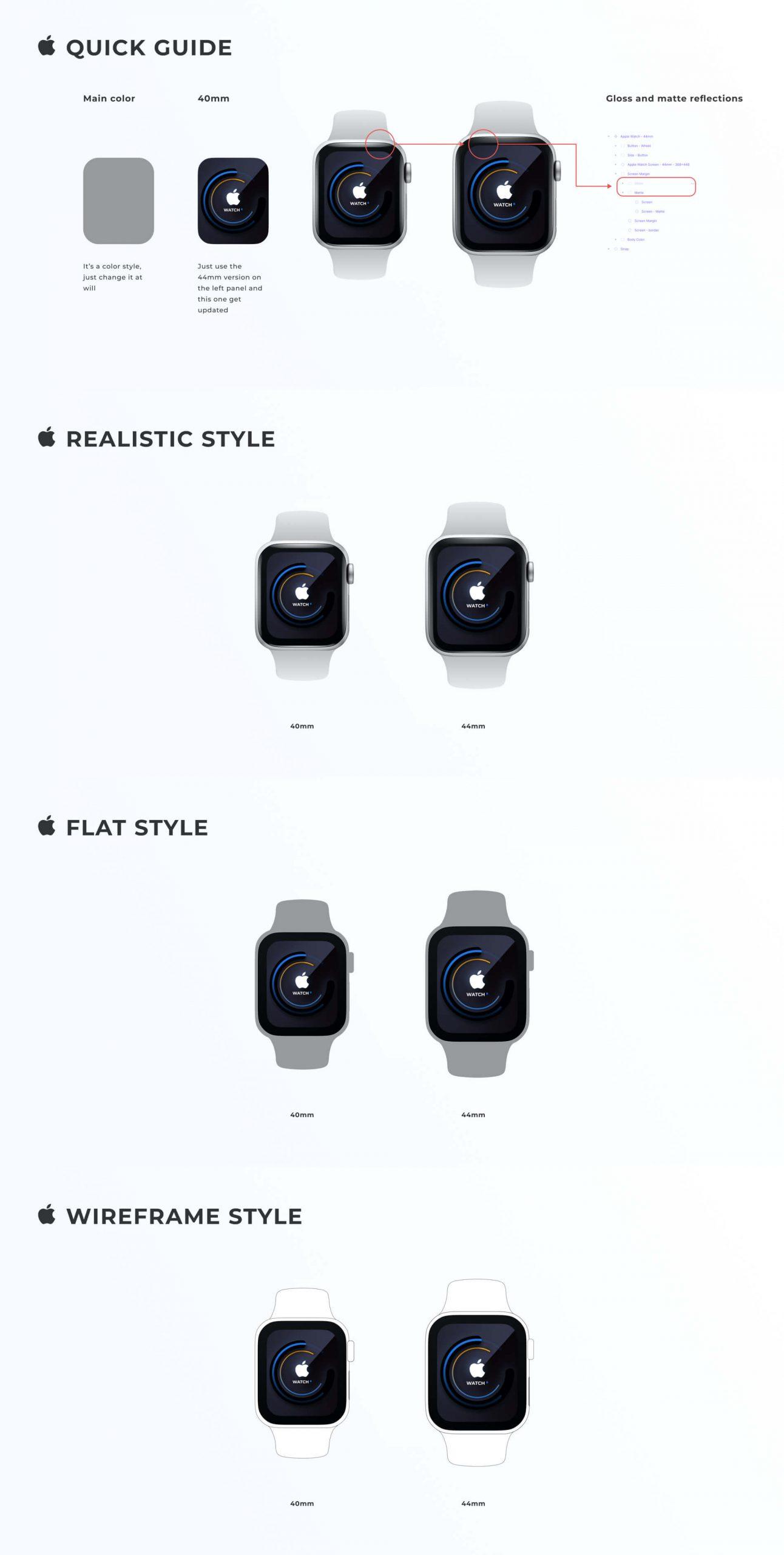 Apple Watch Mockup Figma Free - UI Freebies