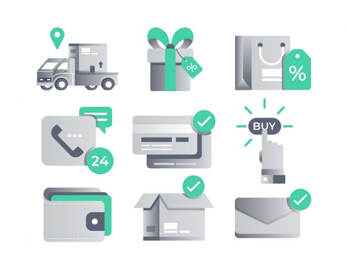 Free Ecommerce Vector Icons - UI Freebies