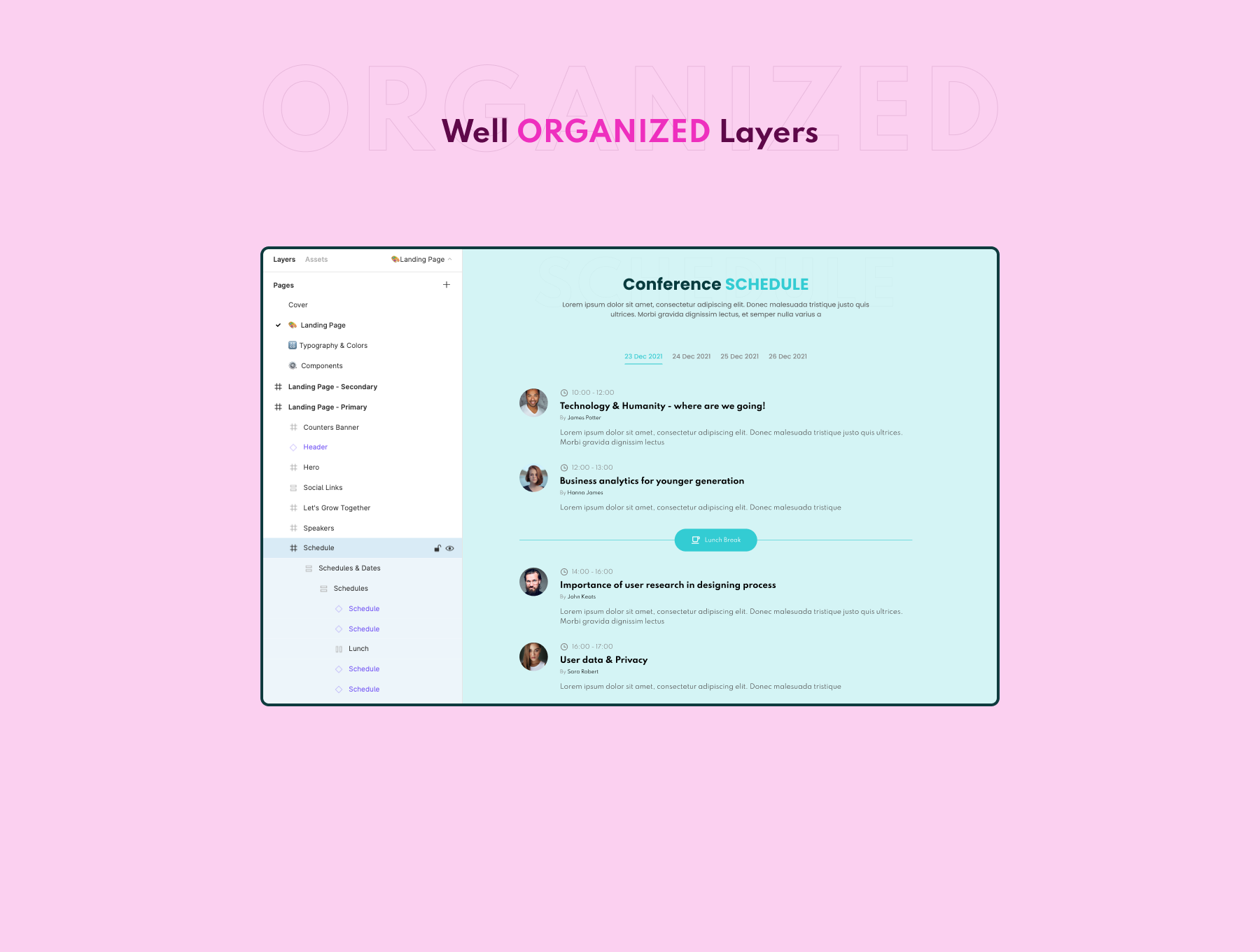 Event Landing Page Design Free - UI Freebies
