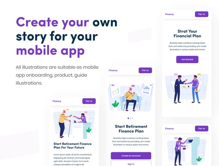 Financial Illustration Free - UI Freebies