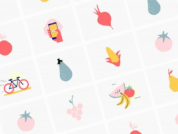 Fruit And Vegetable Illustrations Free - UI Freebies
