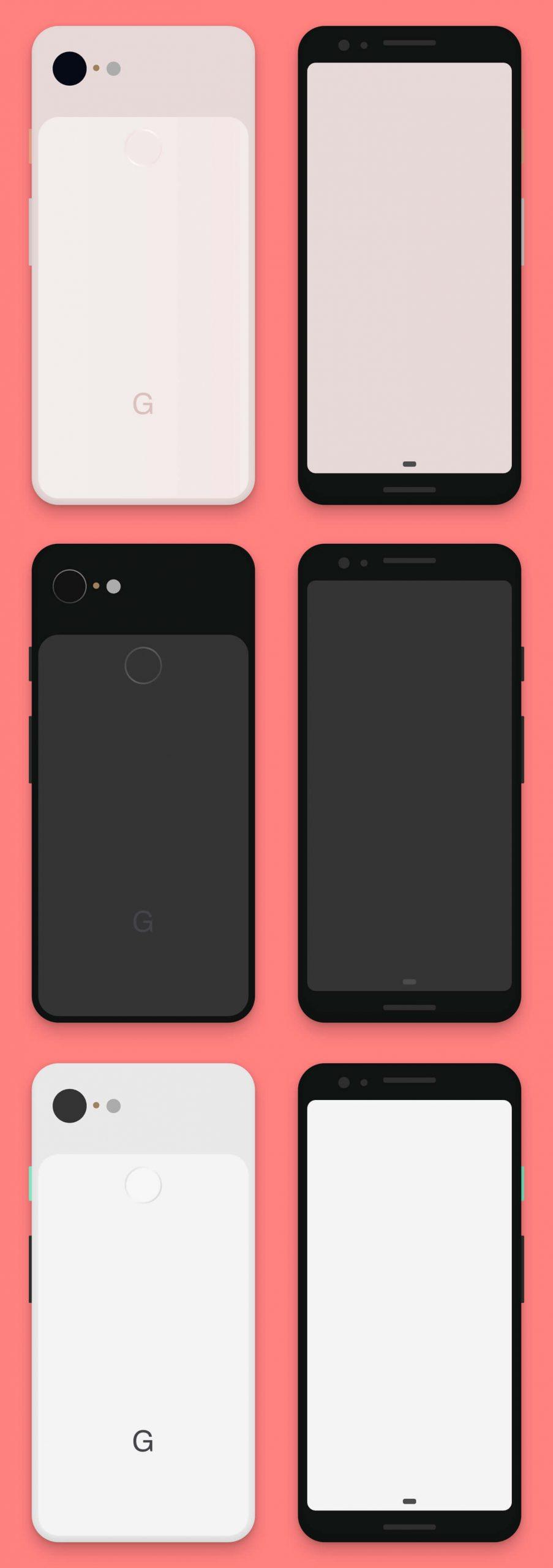 Google Pixel 3 Mockup Sketch Free - UI Freebies