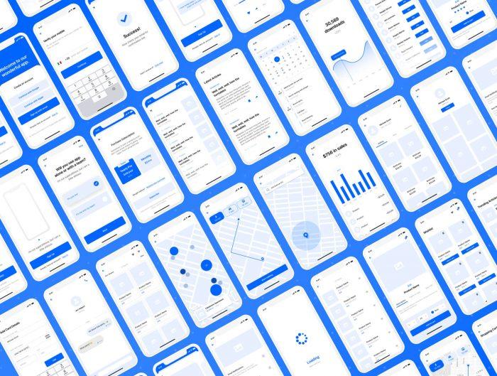 IOS App Wireframe Template Free - UI Freebies