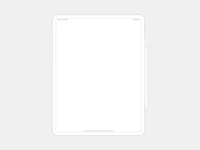 Ipad Pro Wireframe Free - UI Freebies