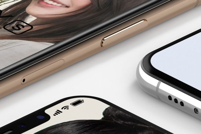 iPhone XS Isometric Mockup Free - UI Freebies