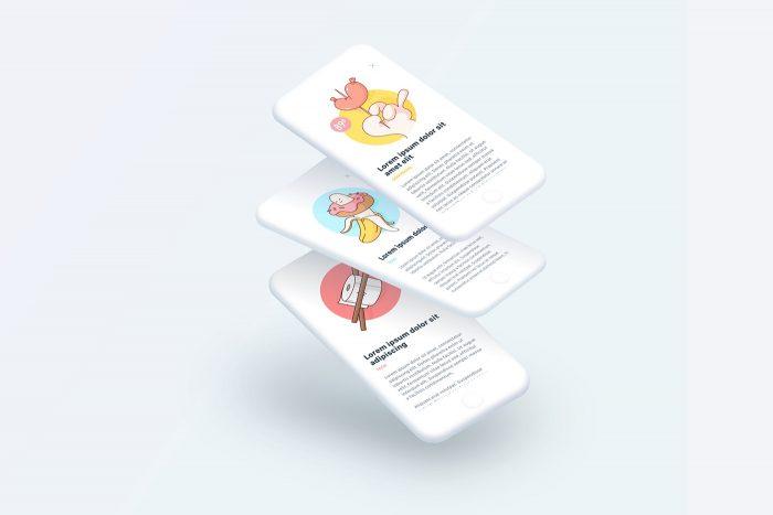 Minimal iPhone Mockup Free - UI Freebies