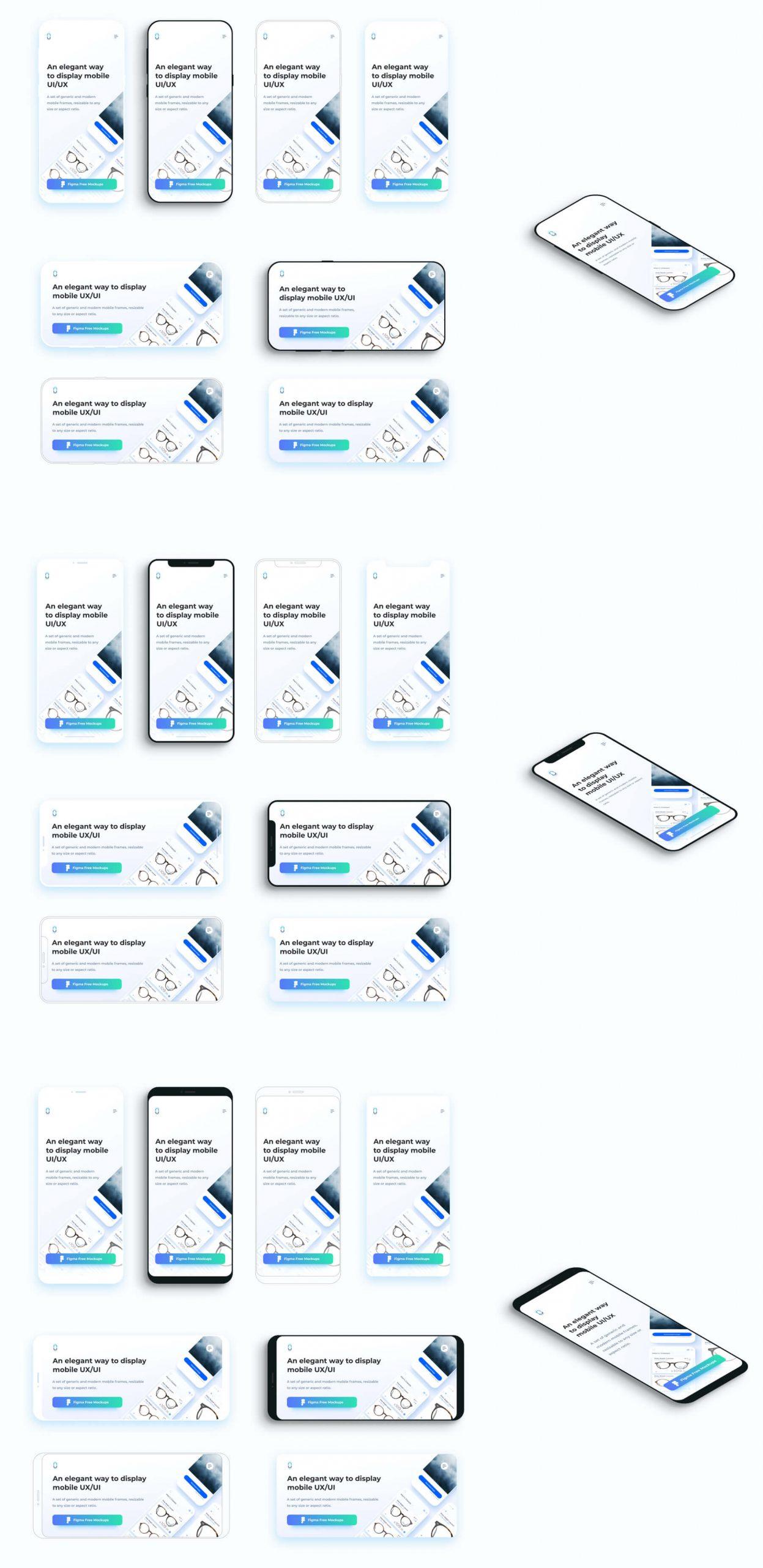 Mobile Mockup Figma Free - UI Freebies
