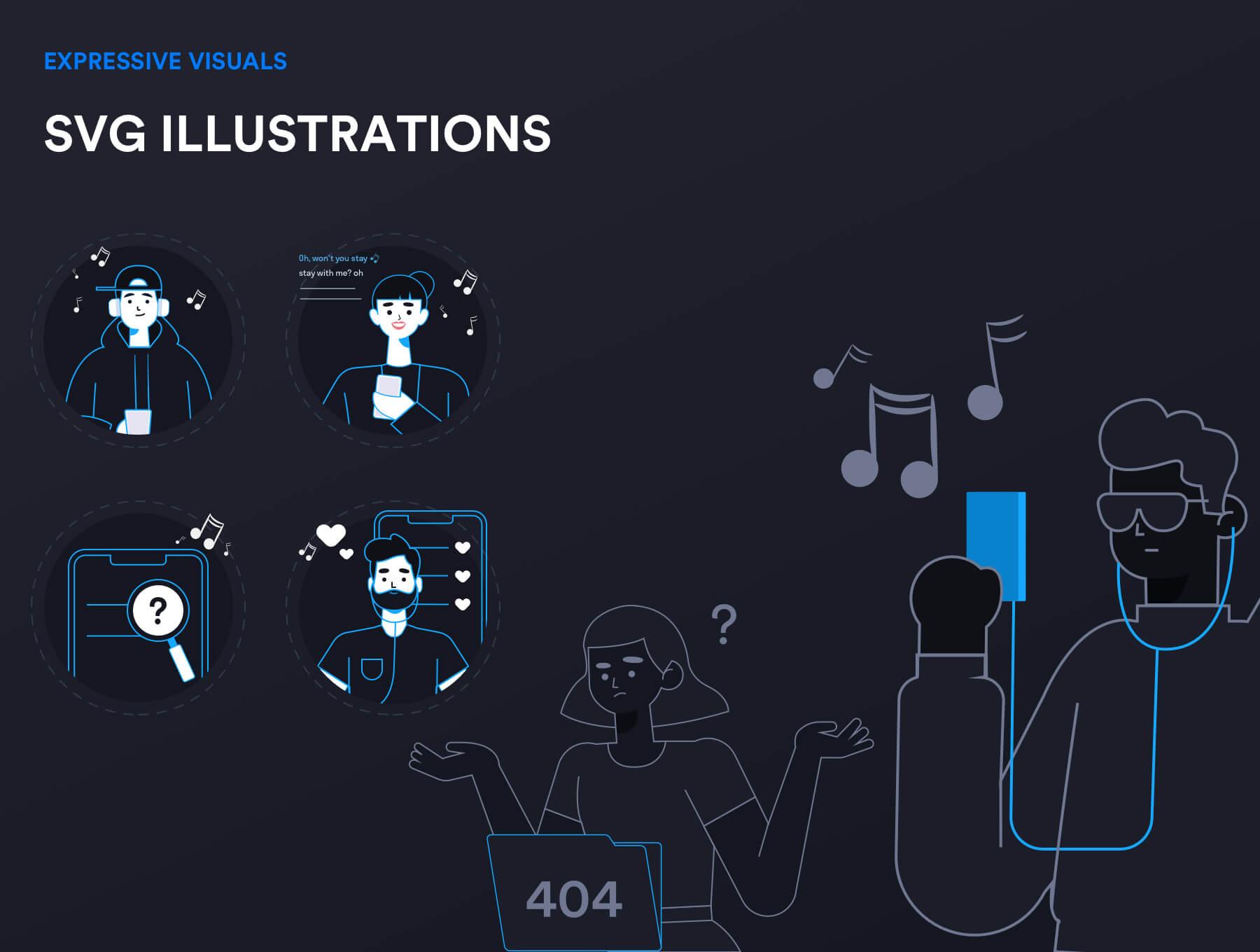Music Streaming IOS UI Kit Free - UI Freebies