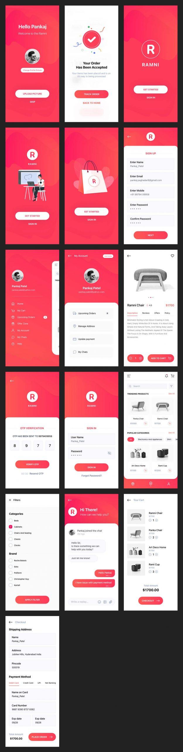 Ramni Free eCommerce UI Kit - UI Freebies
