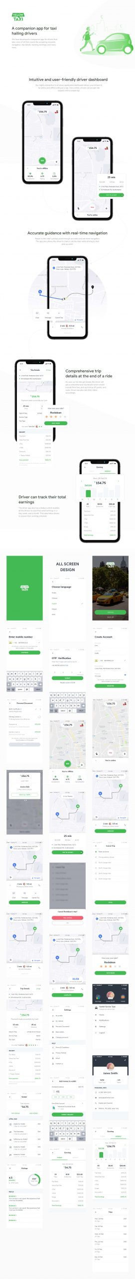 Taxi Booking App UI Kit Free Download - UI Freebies