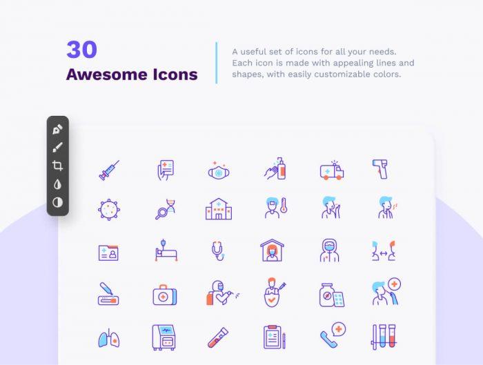 Covid Illustration Pack Free - UI Freebies