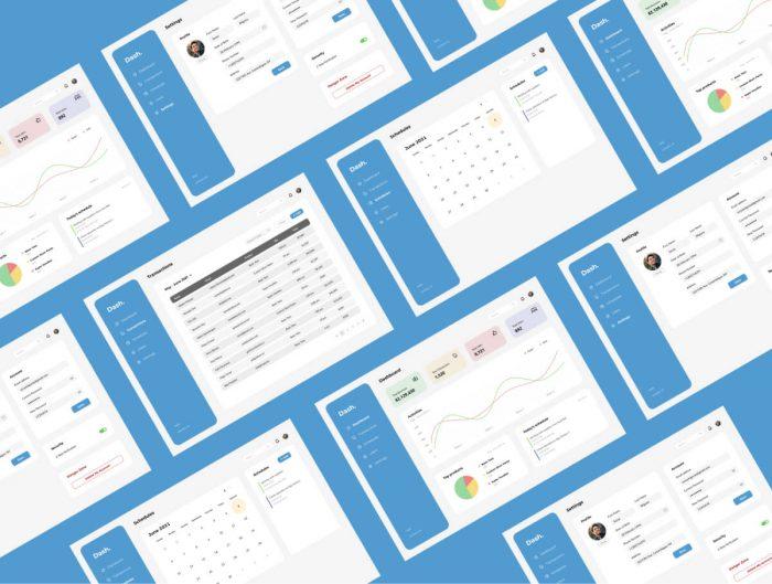 Dashboard Minimalist Design Free - UI Freebies