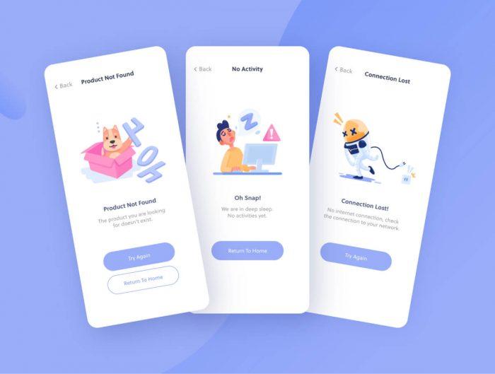 Error State Illustrations Free - UI Freebies