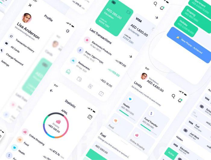 Grow Wallet App UI Kit Free - UI Freebies