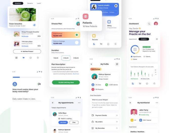 Job Finder App UI Kit Free - UI Freebies