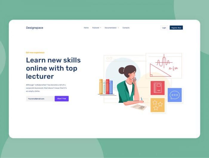 Learning Management Illustration Free - UI Freebies