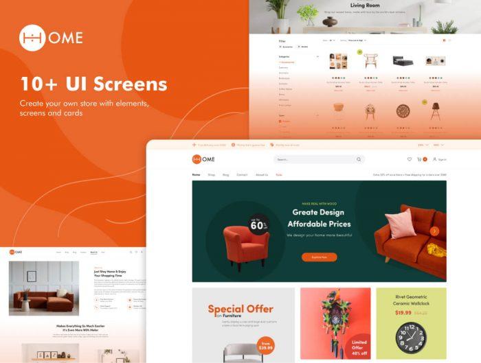 Furniture Store Website Design Free - UI Freebies