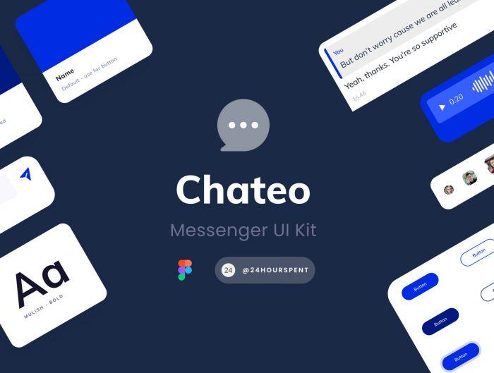 Messaging App UI Kit Free - UI Freebies