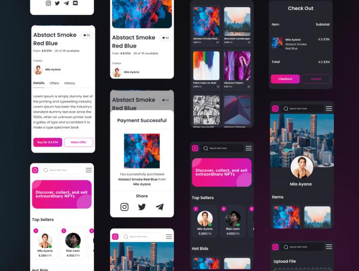 CryptoKet App UI Kit Free - UI Freebies