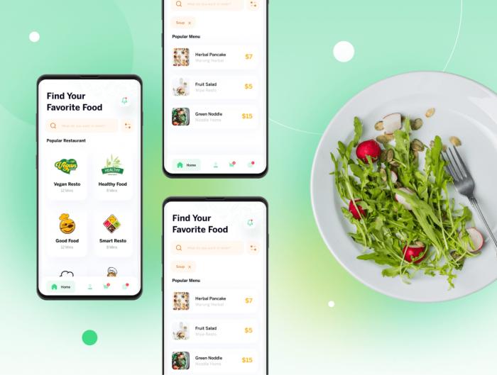 Food Ninja Delivery App UI Kit Free - UI Freebies