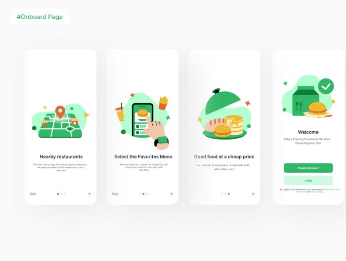 Restaurant Booking App UI Kit Free - UI Freebies