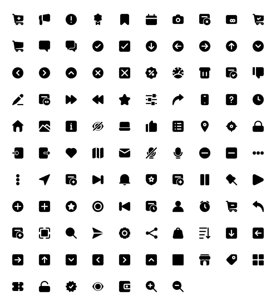Basic Icon Library Free - UI Freebies