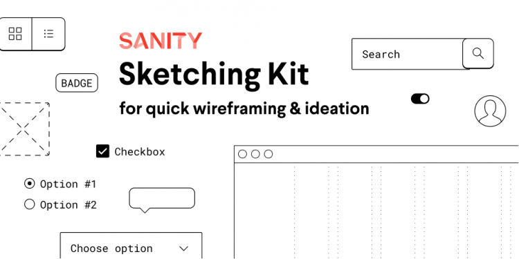Sanity Sketching Wireframe Kit Free