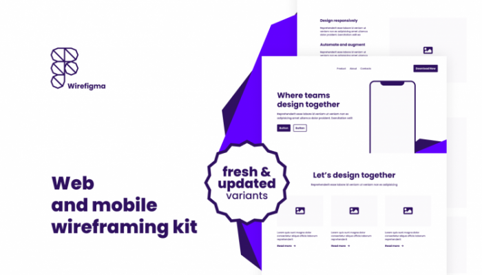 Web and Mobile Wireframing Kit Free