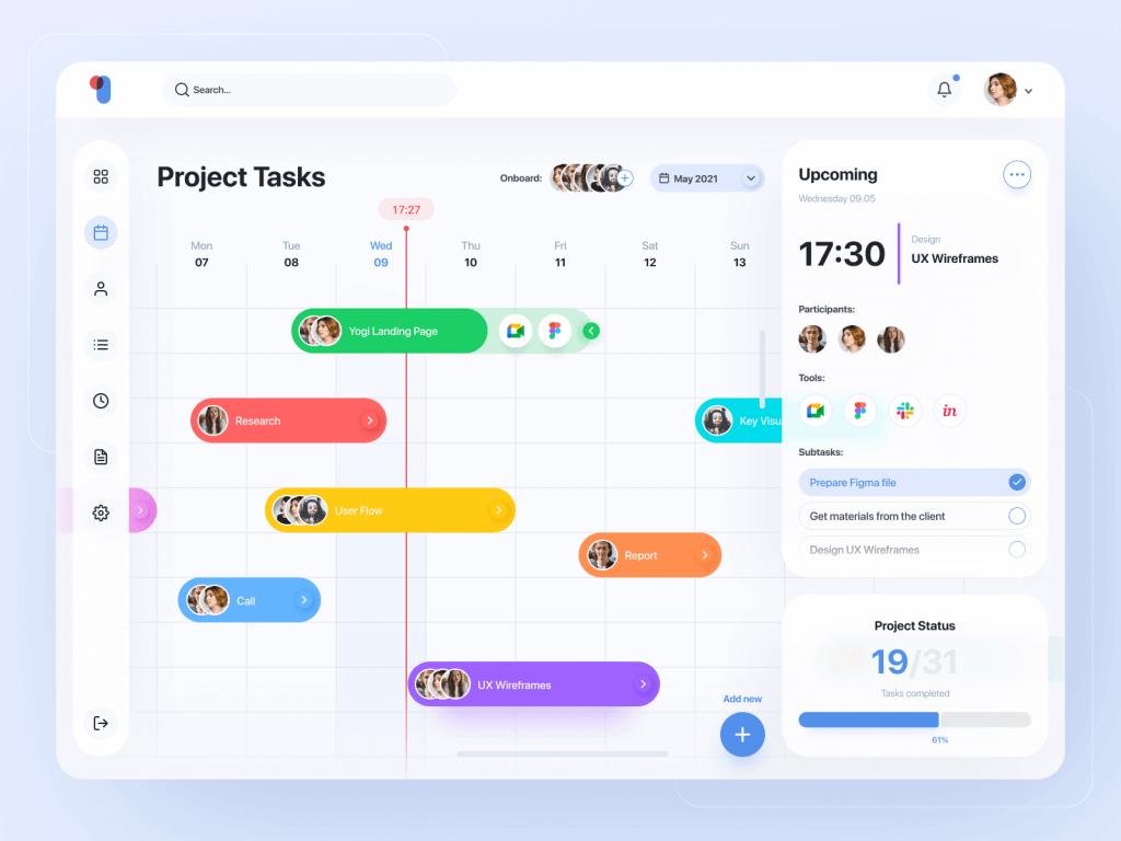To Do Dashboard Design Free - UI Freebies