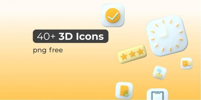 3D Icon PNG Free
